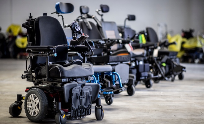 a variety of wheelchairs
